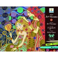 Kit pennarelli Art Nouveau Djeco DJ08607 arte per bambine e ragazze