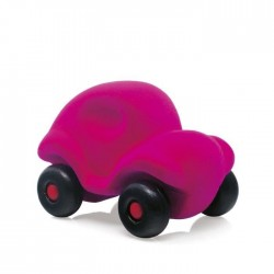 LITTLE CAR PINK macchinina morbida ROSA gomma naturale RUBBABU caucciu 100% NATURAL gioco tattile 1+