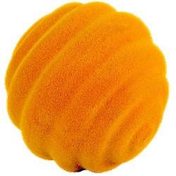 TOP BALL palla morbida ARANCIONE gomma naturale RUBBABU caucciu GIOCO tattile 1+