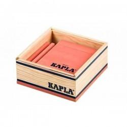 KAPLA 40 pezzi ROSA costruzioni IN LEGNO confezione con plexiglass trasparente 3+