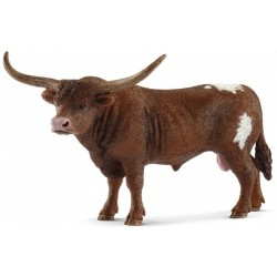 TORO TEXAS LONGHORN 2018 animali in resina SCHLEICH miniature 13866 Farm World BULL età 3+