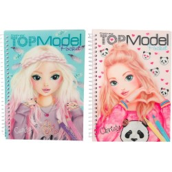 ALBUM TopModel 3D Pocket CREA LA TUA top model DA COLORARE depesche STICKERS decorare 2 COPERTINE