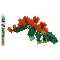 Tubo MINI BASIC 100 pezzi PLUSPLUS STEGOSAURUS gioco modulare costruzioni dinosauro età 5+