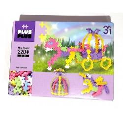 MINI PASTEL 3 IN 1 costruzioni in plastica PLUS PLUS fairy tales GIOCO 220 pezzi MODULARE età 5+