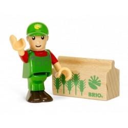 PERSONAGGI BRIO WORLD in legno AGRICOLTORE trenino 33850 seconda serie COLLEZIONE età 3+