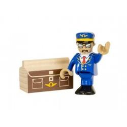 PERSONAGGI BRIO WORLD in legno PILOTA trenino 33850 seconda serie COLLEZIONE età 3+