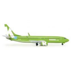 KULULA BOEING 737-800 aereo in metallo 523325 modellino HERPA WINGS scala 1:500