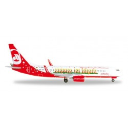 AIRBERLIN FLYING HOME FOR CHRISTMAS BOEING 737-800 aereo in metallo 527019 modellino HERPA WINGS scala 1:500