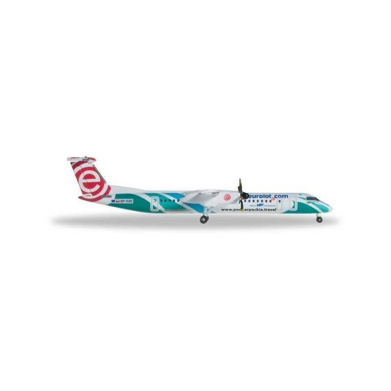 EUROLOT BOMBARDIER Q400 aereo in metallo 527088 modellino HERPA WINGS scala 1:500
