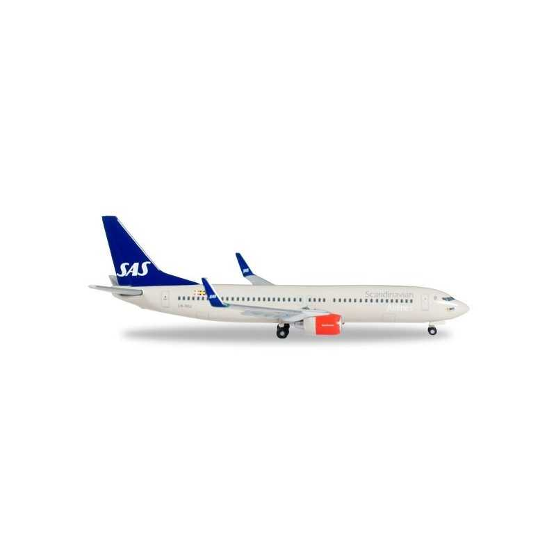 SAS SCANDINAVIAN AIRLINES BOEING 737-800 FRIDA VIKING aereo in metallo 527323 modellino HERPA WINGS scala 1:500