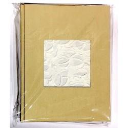 ALBUM CHIC cartastella FATTO A MANO 24 x 31 cm IN ITALIA hand made CANAPA porta foto CHIARO