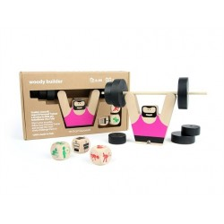 WOODY BUILDER gioco in legno MILANIWOOD 100% made in italy DI MOVIMENTO party game PALESTRA età 6+