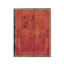 Diario bianco LEWIS CARROLL ALICE ultra cm 23x18 - PAPERBLANKS nel paese delle meraviglie taccuino
