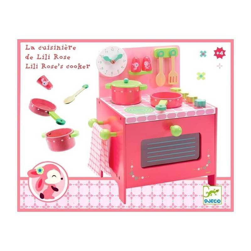 Cucina di lili rose set da cuoca in legno forno pentola for Kit utensili da cucina