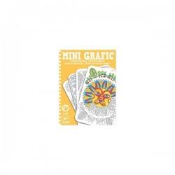 MINI GRAFIC da colorare MANDALA 30 schede DJECO cartoncino DJ05383 età 8+