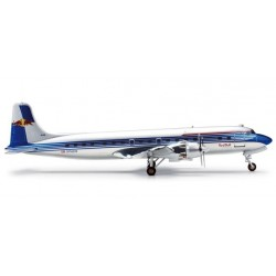THE FLYING BULLS DOUGLAS DC-6B aereo in metallo 554077 modellino HERPA WINGS scala 1:200 plane RED BULL