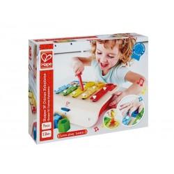 XILOFONO con scelta delle FORME musicale HAPE gioco in legno e metallo 7 PEZZI bebè E0334 da 12 mesi +