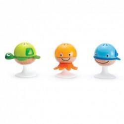 SET SONAGLI SEMPRE IN PIEDI stay-put rattle set HAPE gioco in legno e plastica VENTOSE bebè E0330 da 0 mesi +