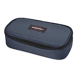 ASTUCCIO Eastpak OVAL XL tasca interna con zip EK34A154 divisoria porta penne MIDNIGHT single NERO grigio scuro