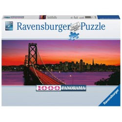 PUZZLE Ravensburger SAN FRANCISCO AL TRAMONTO panorama 1000 PEZZI 98 x 38 cm