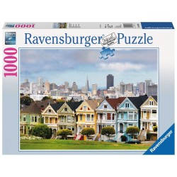 PUZZLE Ravensburger PAINT LADIES San Francisco 1000 PEZZI 50 x 70 cm