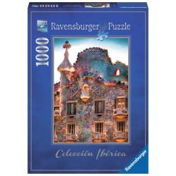 PUZZLE Ravensburger CASA BATLLO Gaudi 1000 PEZZI 50 x 70 cm SOFT CLICK Barcellona