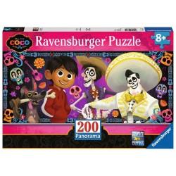 PUZZLE 200 PEZZI Ravensburger COCO panorama REMEMBER ME disney pixar 57 X 24 CM età 8+