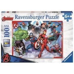 PUZZLE 100 PEZZI Ravensburger AVENGERS supereroi XXL Marvel 49 X 36 CM età 6+
