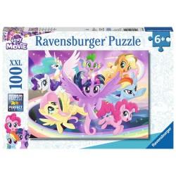 PUZZLE 100 PEZZI Ravensburger MY LITTLE PONY xxl THE MOVIE Twilight Sparkle e i suoi amici 49 X 36 CM età 6+