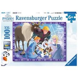 PUZZLE 100 PEZZI Ravensburger OLAF FROZEN ADVENTURE xxl 49 X 36 CM età 6+