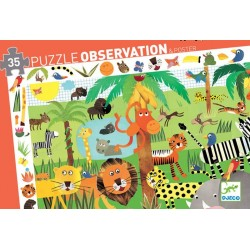 Puzzle SCOPERTA GIUNGLA 35 pezzi DJECO jungle OBSERVATION DJ07590 età 3+
