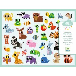DECALCOMANIE mini adesivi ANIMALETTI Djeco DJ09085 KIT ARTISTICI età 18 mesi+