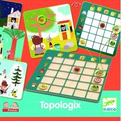 TOPOLOGIX gioco di società IN LEGNO Djeco DJ08354 eduludo LOGICA età 4+