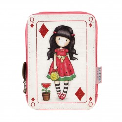 MINI PORTAFOGLI con zip GORJUSS card EVERY SUMMER HAS A STORY Santoro ROSA london 791GJ02