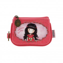 PORTAMONETE Santoro EVERY SUMMER HAS A STORY Gorjuss KEYRING ZIP PURSE rosa 340GJ16