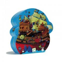 PUZZLE gioco NAVE DI BARBAROSSA 54 pezzi grandi DJECO scatola sagomata DJ07241 età 5+