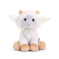 PELUCHE Pippins CAPRA pupazzo ANIMALI Keel Toys GOAT 14 cm BIANCA