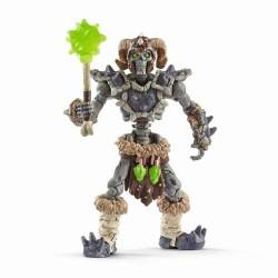SCHELETRO DI PIETRA snodabile con arma Schleich 42450 Eldrador Creatures Stone Skeleton
