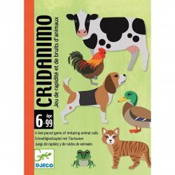 CRIDANIMO gioco di carte VERSI DI ANIMALI rapidità DJ05109 società DJECO età 6+