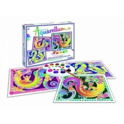 GRANDI DRAGHI kit artistico AQUARELLUM creativo SENTOSPHERE età 8+