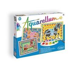 AQUARELLUM grandi CAVALLI kit artistico SENTOSPHERE creativo SET COLORI età 8+