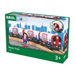 TRENO METROPOLITANA metro train BRIO trenino in legno e plastica 33867 età 3+