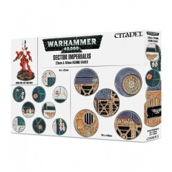 SECTOR IMPERIALIS basette tonde 25mm e 40mm Round Bases Warhammer 40k Citadel