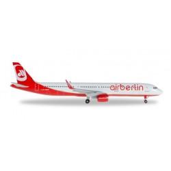 AIRBERLIN AIRBUS A321 aereo in metallo 528443-001 modellino HERPA WINGS scala 1:500
