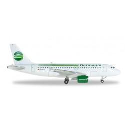 GERMANIA AIRBUS A319 aereo in metallo 518703-001 modellino HERPA WINGS scala 1:500
