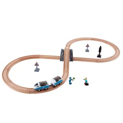 FERROVIA PASSEGGERI A 8 passenger train set HAPE pista TRENO trenino E3729 età 3+