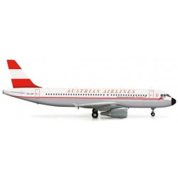 AUSTRIAN AIRLINES AIRBUS A320 aereo in metallo 555708 modellino HERPA WINGS scala 1:200
