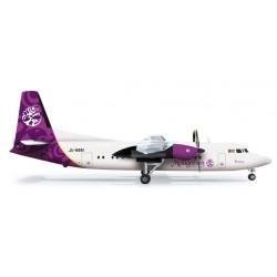 MONGOLIAN AIRLINES FOKKER 50 aereo in metallo 555548 modellino HERPA WINGS scala 1:200