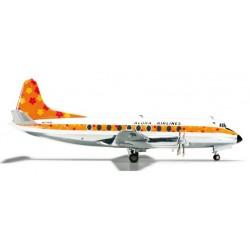 ALOHA AIRLINES VICKERS VISCOUNT 700 aereo in metallo 555753 modellino HERPA WINGS scala 1:200