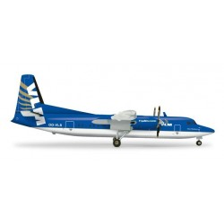 VLM AIRLINES FOKKER 50 aereo in metallo 555647 modellino HERPA WINGS scala 1:200